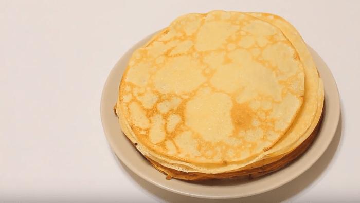 блины на воде с яйцами пошаговый рецепт с дырочками
