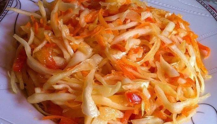 Быстрый рецепт маринованной капусты