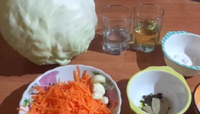 Капуста маринованная быстрого приготовления без уксуса