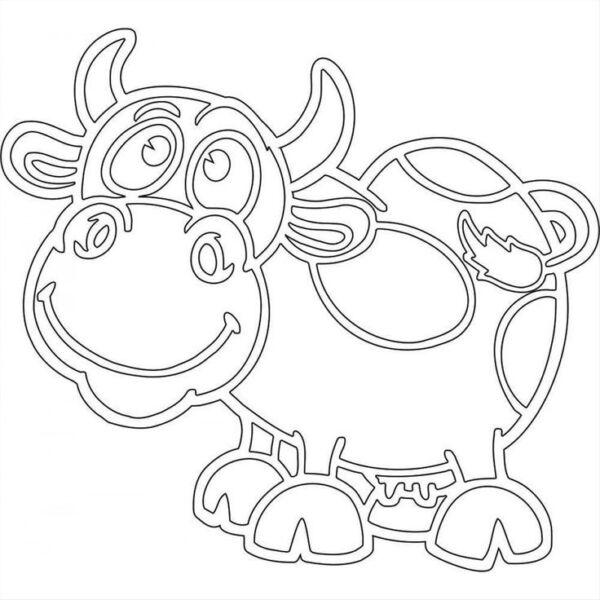 Шаблоны для вырезания в виде быка
