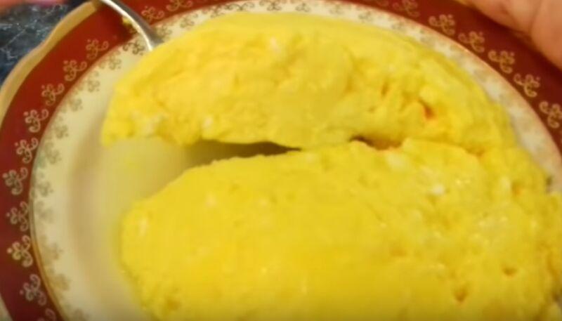 Сладкий омлет в микроволновой печи - рецепт пошаговый с фото