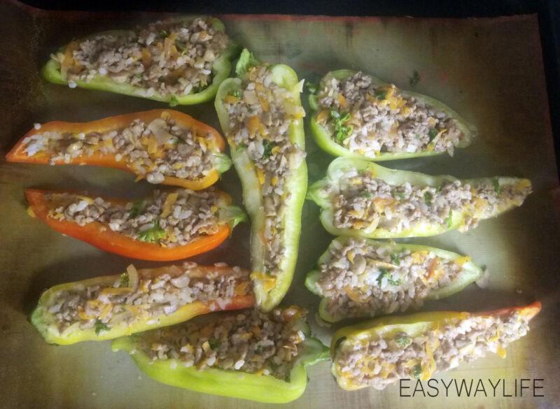 Фаршируем перцы для запекания их в духовке рис 2