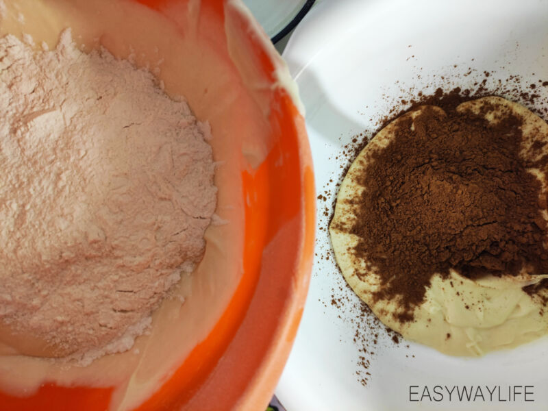 Формирование рисунка и цвета для пирога Зебра рис 1