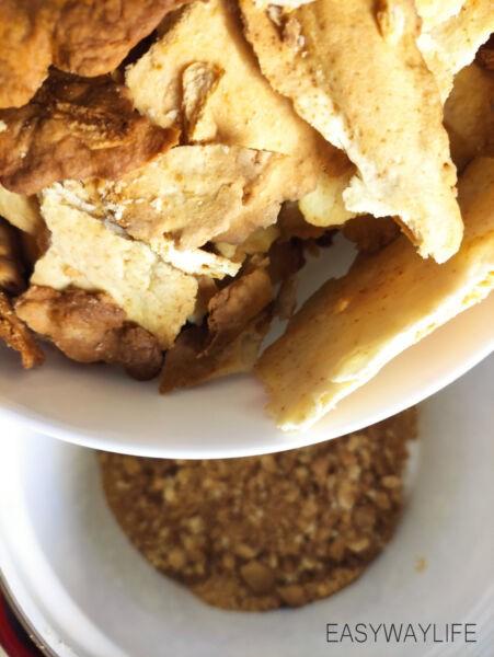 Сборка домашнего торта Наполеон из слоёного теста рис 2