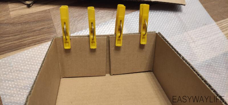 Склеивание новогодней коробки своими руками рис 3