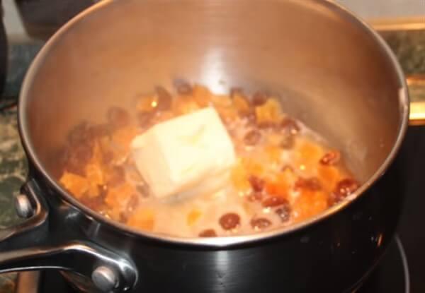 Подготовка тыквы и сухофруктов для запекания с сухофруктами рис 3