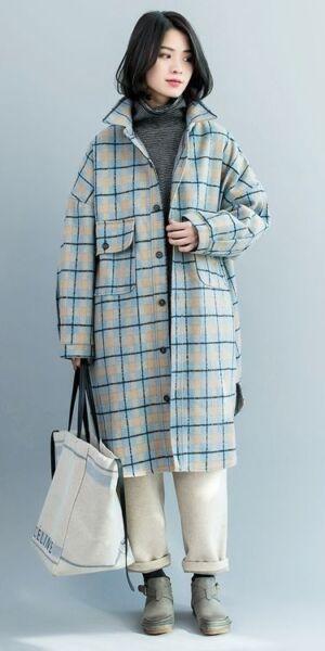Короткое демисезонное пальто и пальто - рубашки рис 1