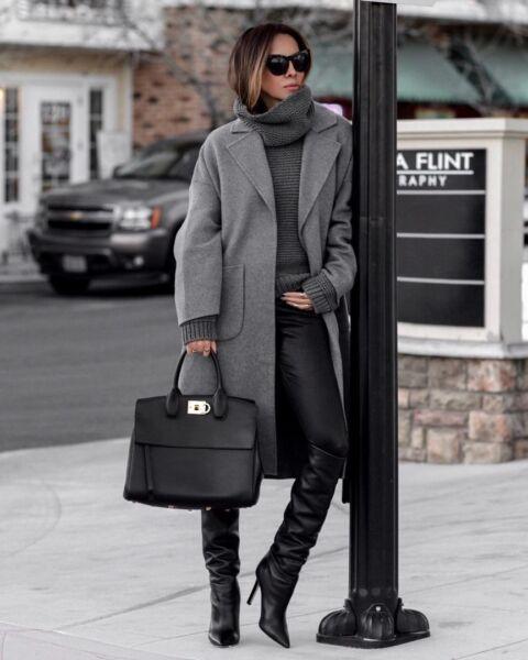 Классическое женское демисезонное пальто рис 1