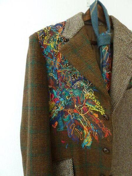 Сочетание разных фактур и тканей в женском пальто рис 8