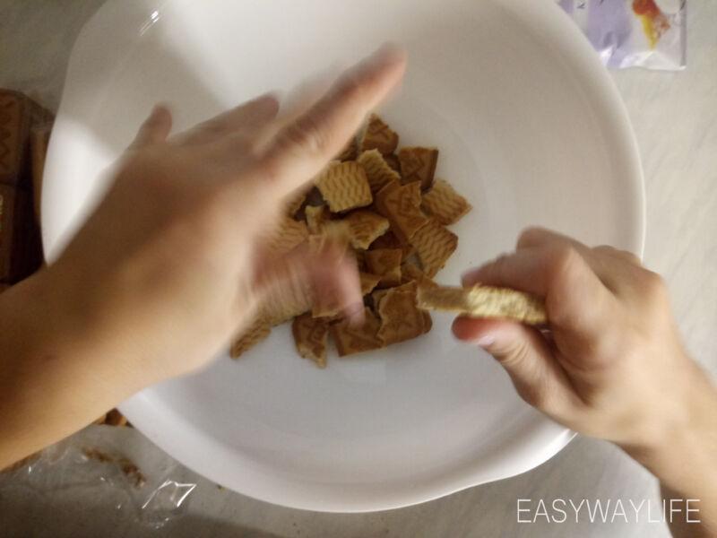 Приготовление нижнего слоя чизкейка без выпечки рис 1