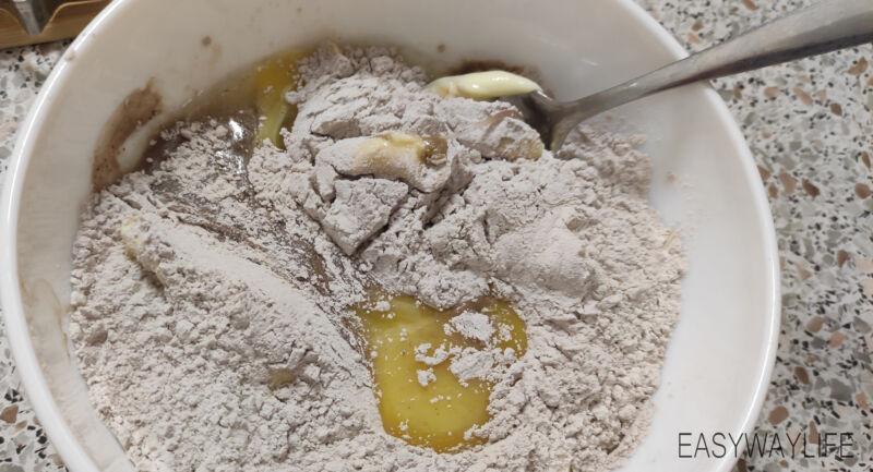 Вымешивание теста для печенья рис 1