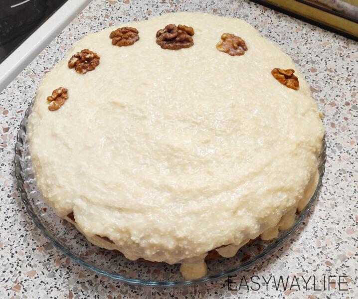 Приготовление заварного крема для морковного торта