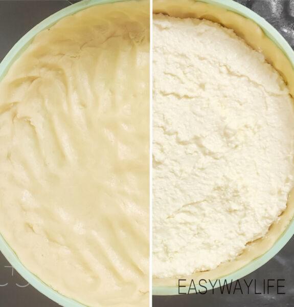 Формирование основы и начинки в чизкейке и выпекание рис 1