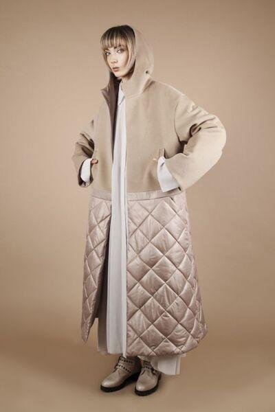 Стёганое демисезонное женское пальто рис 3