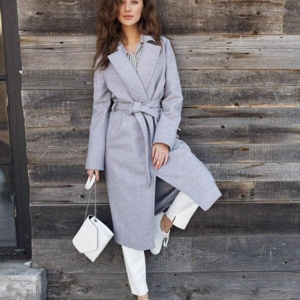 Классическое женское демисезонное пальто рис 2
