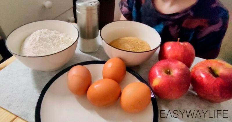 Классическая шарлотка с яблоками в духовке рис 1