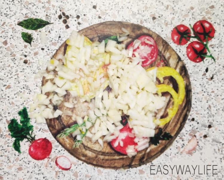 Приготовление начинки для рыбного пирога из дрожжевого теста рис 1