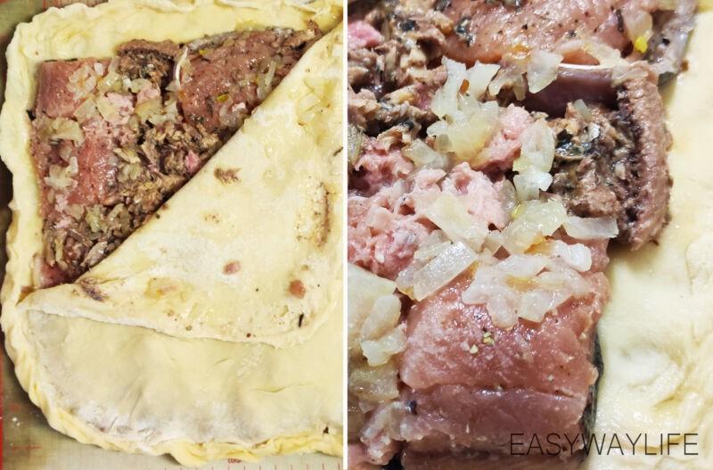 Начинение рыбного пирога из дрожжевого теста рис 1
