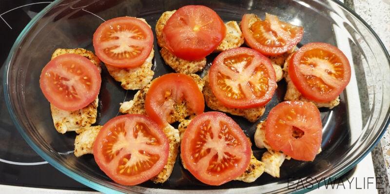 Подготовка помидор для отбивных из индейки рис 2