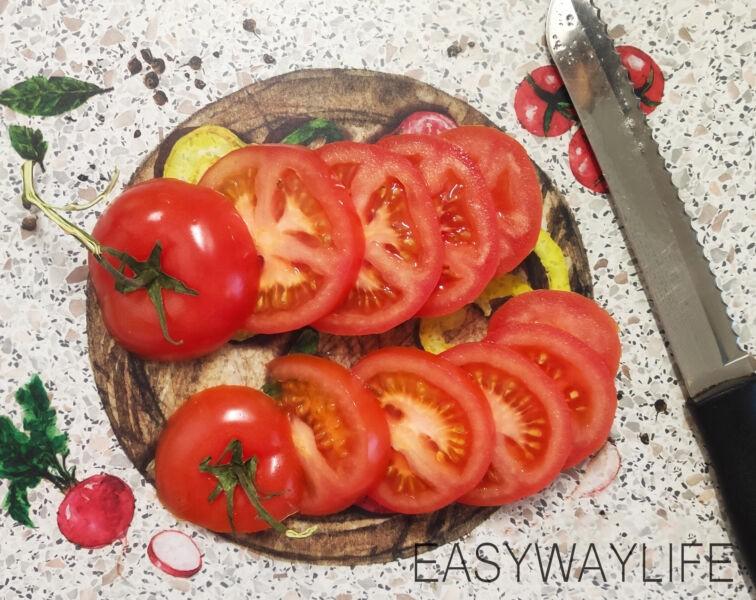 Подготовка помидор для отбивных из индейки рис 1