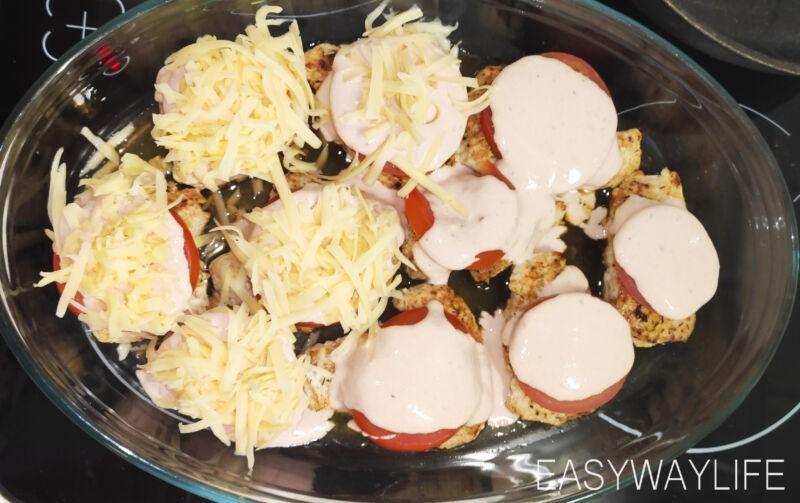 Приготовление соуса и запекание отбивных из индейки рис 2