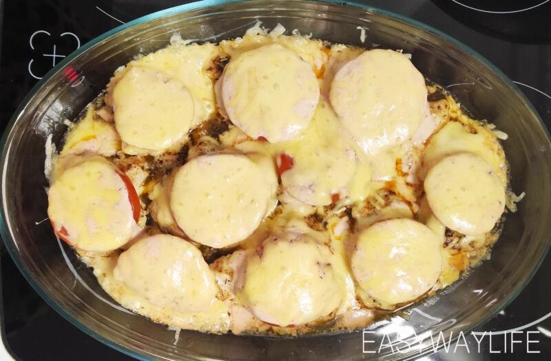 Приготовление соуса и запекание отбивных из индейки рис 3