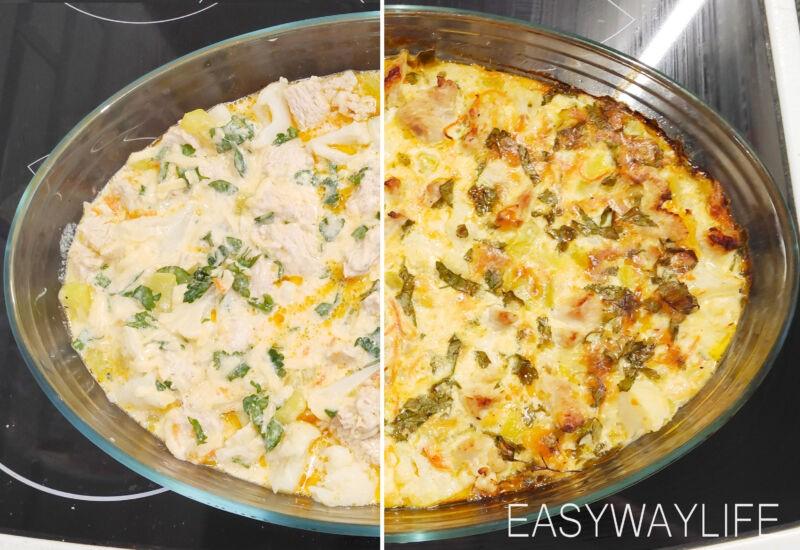 Приготовление заливки и запекание индейки с овощами в духовке рис 2