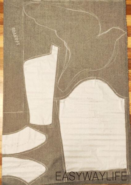 Раскрой пальто на ткани рис 2