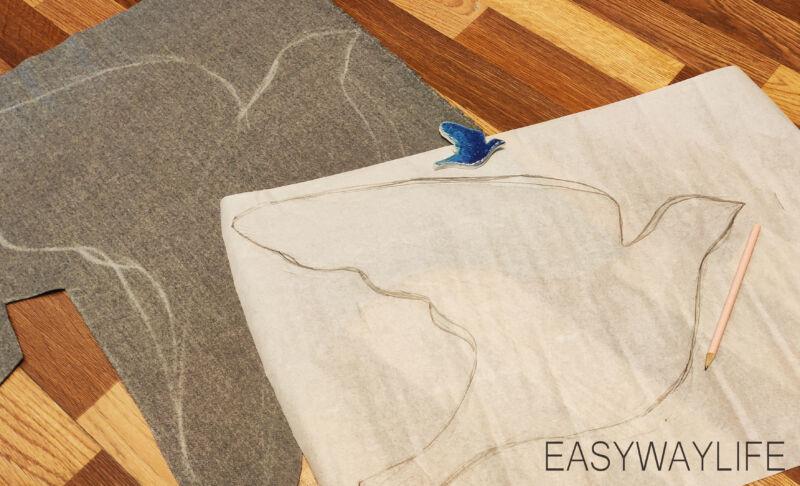 Раскрой пальто на ткани рис 3