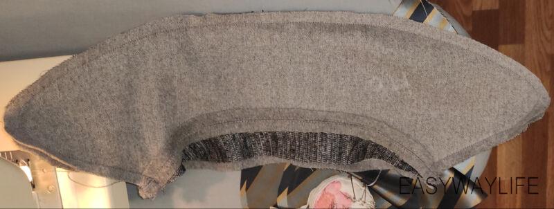 Обработка воротника в пальто рис 1