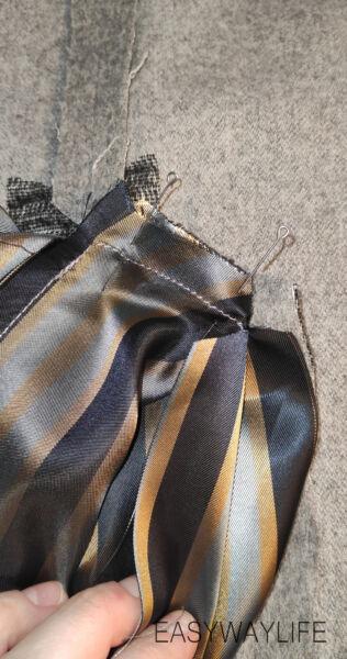 Обработка подкладки для спинки шлицы рис 3