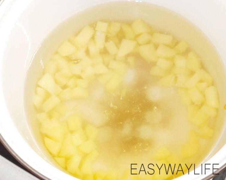 Подготовка овощей для супа из тунца рис 2