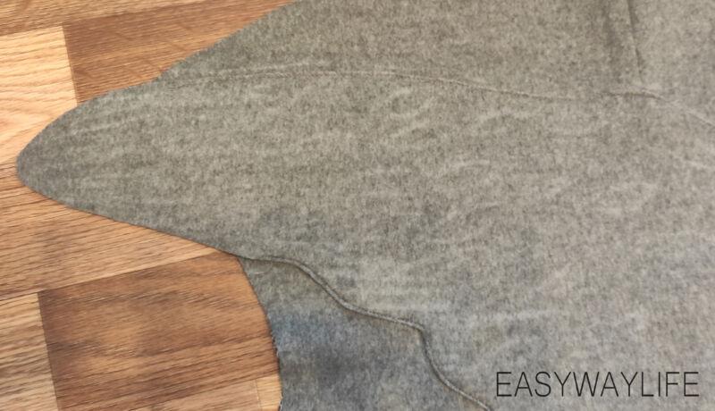 Намётка и притачивание аппликации на детали спинки пальто рис 4