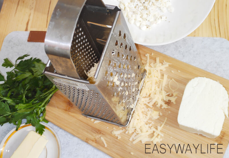 Подготовка начинки для хачапури с сыром рис 1
