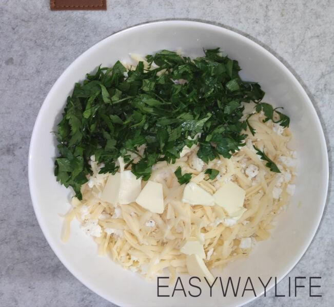 Подготовка начинки для хачапури с сыром рис 2