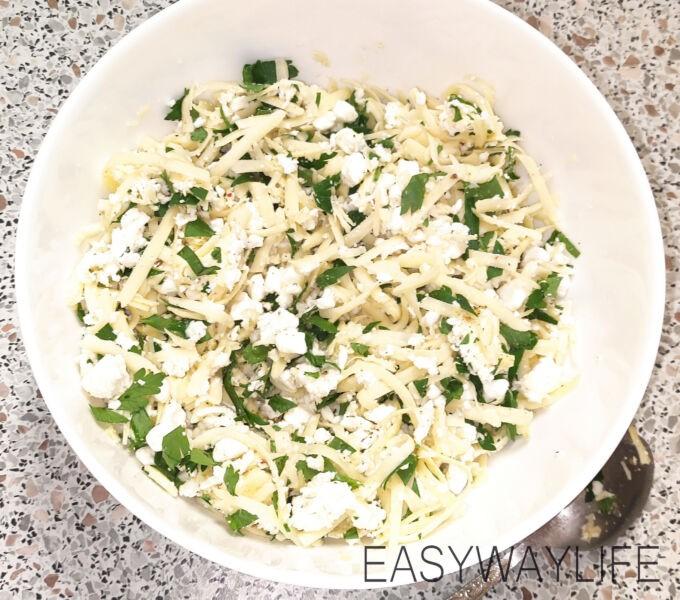 Подготовка начинки для хачапури с сыром рис 3