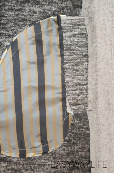 Стачивание полочек, спинки и карманов в швах рис 3
