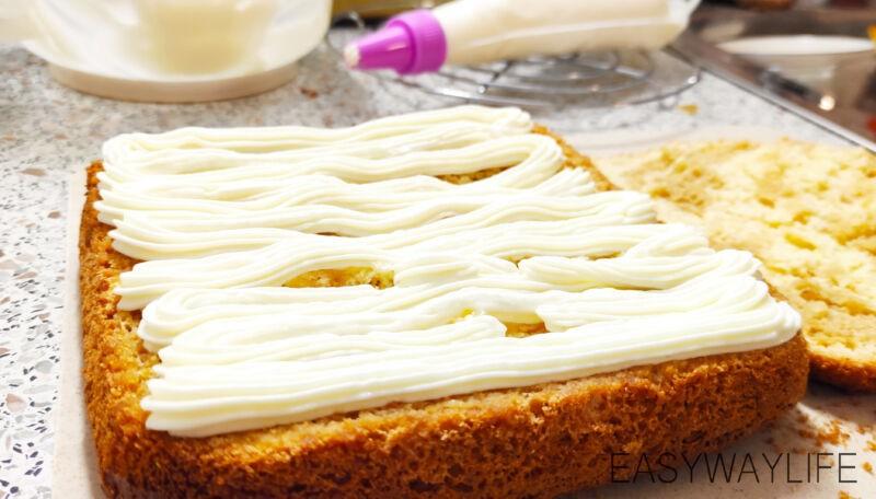 Приготовление крема с маскарпоне для бисквитного торта рис 5