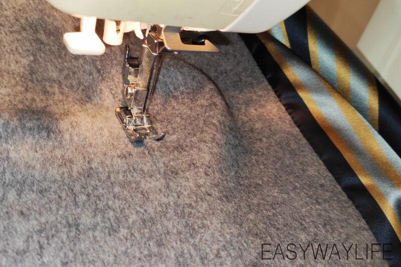 Обработка подкладки в пальто рис 2