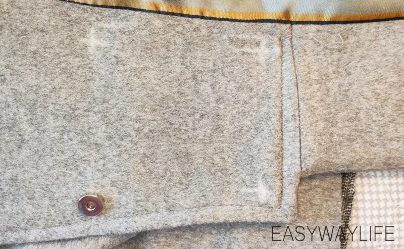 Обработка застежки в пальто рис 1