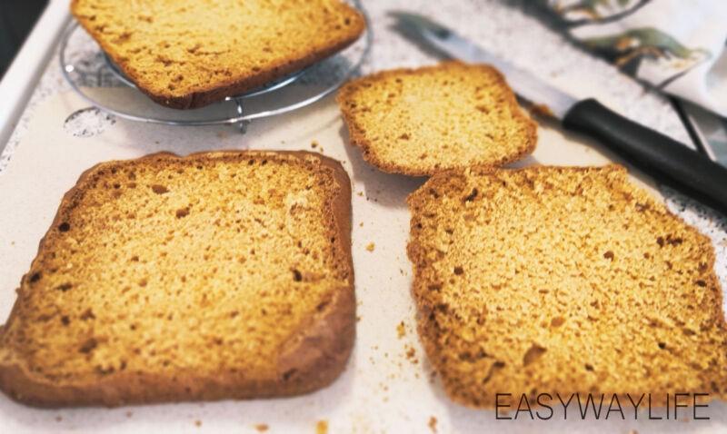 Подготовка коржей для торта медовик рис 3