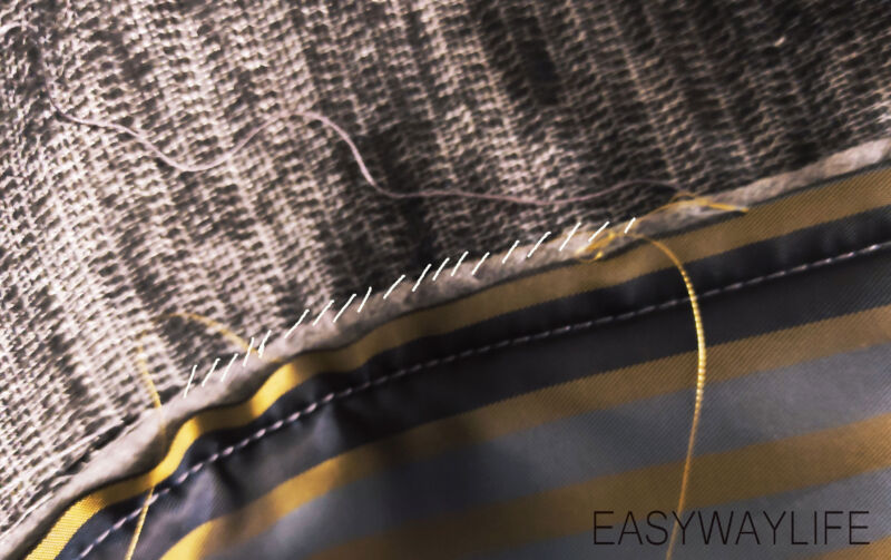 Внутренняя отделка, закрепки, низ пальто рис 7