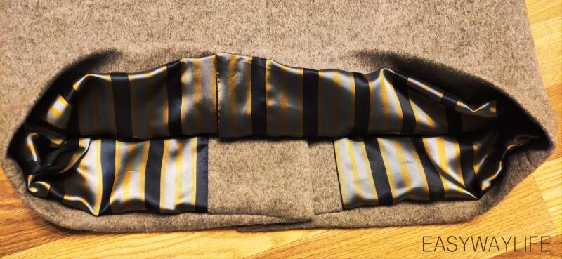 Внутренняя отделка, закрепки, низ пальто рис 8