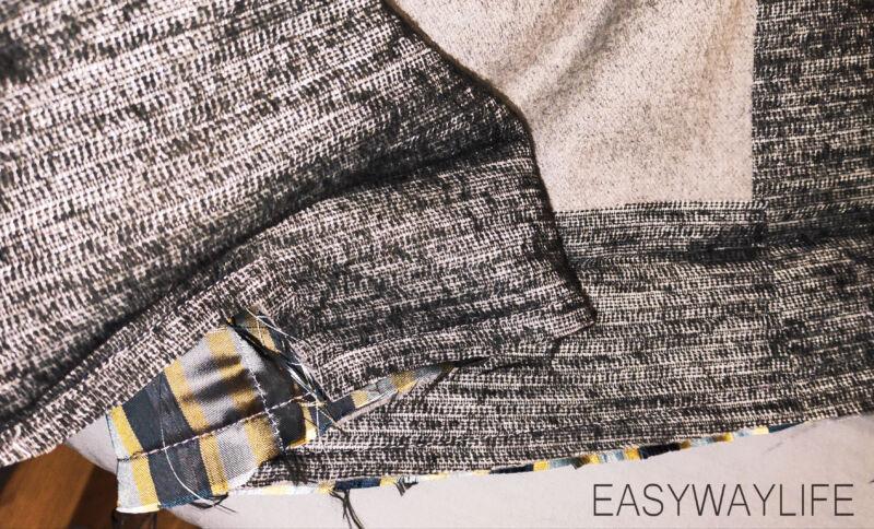 Внутренняя отделка, закрепки, низ пальто рис 6