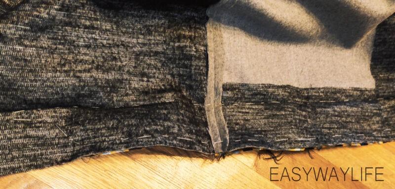 Внутренняя отделка, закрепки, низ пальто рис 5