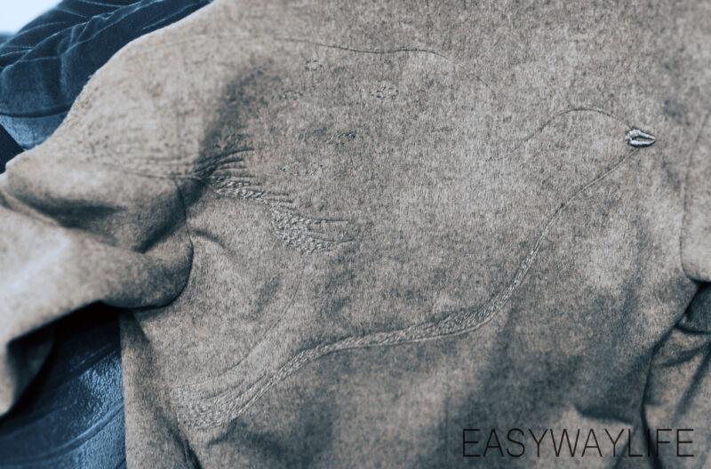 Вышивка на пальто рис 4