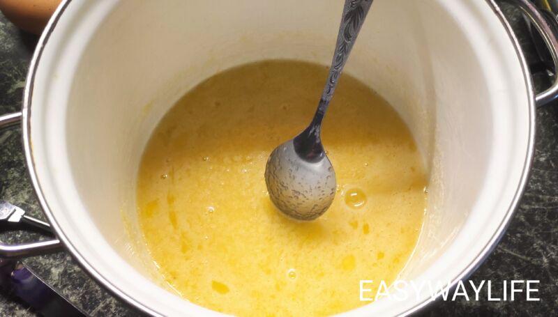 Подготовка крема для торта