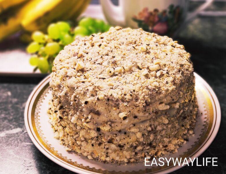 Сборка торта на сковороде с заварным кремом рис 3