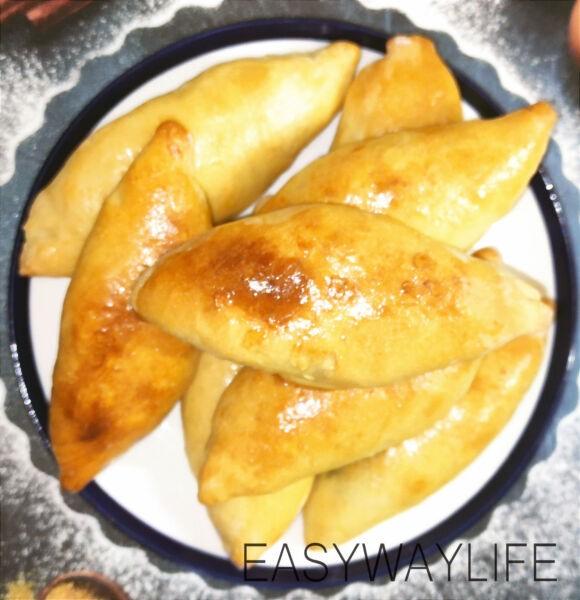 Выпекание пирожков с зеленым луком и яйцом рис 5
