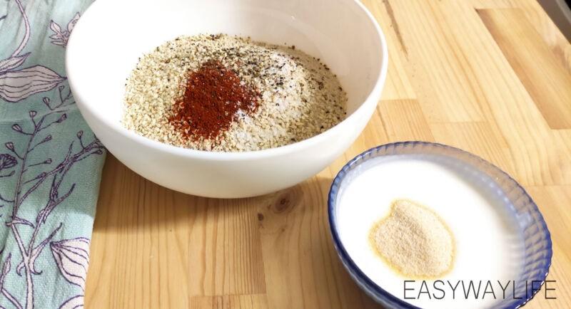 Приготовление панировки и обжаривание куриных палочек рис 1